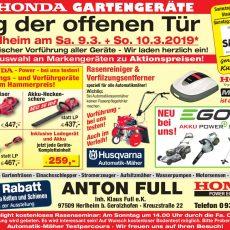 Tag der offenen Tür in Herlheim am Sa. 9.3. + So. 10.3.2019